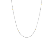 """gurhan_yellow_tone_sterling_silver_layered_tube_bead_necklace,_18.5"""""""