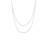 """gurhan_yellow_tone_sterling_silver_layered_tube_bead_necklae,_36"""""""