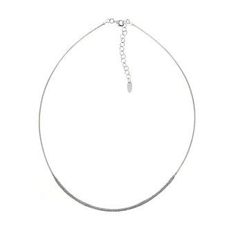 pesavento sterling silver grey dust strand necklace, 19""