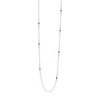 "pesavento_rose_tone_sterling_silver_black_&_rose_dust_station_necklace,_48"""