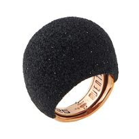 Pesavento_Polvere_di_Sogni_Pink_Sterling_Silver_&_Black_Dust_Large_Dome_Ring