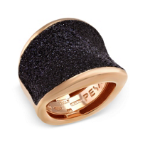 Pesavento_Polvere_di_Sogni_Pink_Sterling_Silver_&_Black_Dust_Saddle_Ring