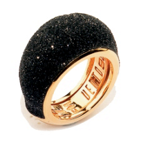 Pesavento_Polvere_di_Sogni_Pink_Sterling_Silver_&_Black_Dust_Medium_Dome_Ring