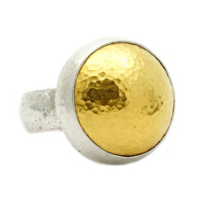 Gurhan_Amulet_Sterling_Silver_&_Yellow_Tone_Dome_Ring