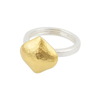 Gurhan Sterling Silver & 24K Overlay Clove Ring