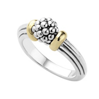 Lagos_Sterling_Silver_&_18K_Yellow_Gold_Caviar_Forever_Beaded_Sphere_Ring
