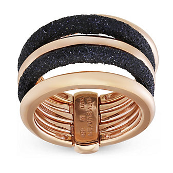 Pesavento Sterling Silver & Rose Tone Polvere di Sogni Black Dust Ring