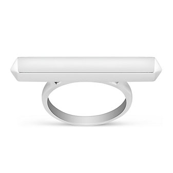 Sterling Silver Flat Bar Ring