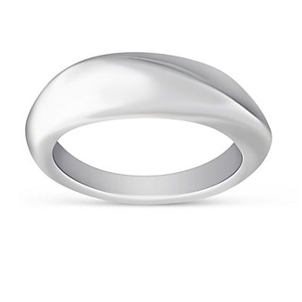 Sterling Silver Beveled Wave Ring
