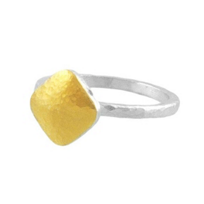 Gurhan_Sterling_Silver_&_24K_Overlay_Small_Hammered_Square_Brandy_Ring