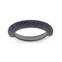 pesavento_sterling_silver_&_ruthenium_dark_gray_dust_stackable_ring