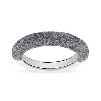 pesavento sterling silver & rhodium light gray dust stackable ring