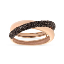 pesavento_rose_tone_sterling_silver_dark_brown_dust_crossover_ring