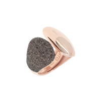pesavento_rose_tone_sterling_silver_dark_brown_dust_cuff_ring