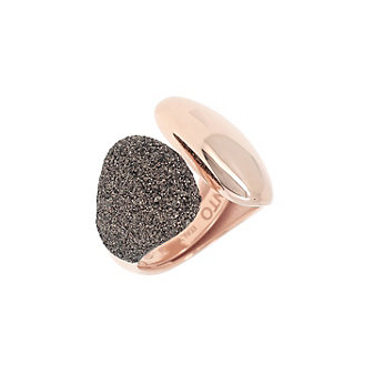 pesavento rose tone sterling silver dark brown dust cuff ring