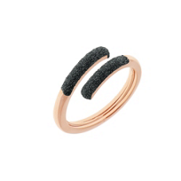 pesavento_rose_tone_sterling_silver_incontri_black_dust_sparkle_wrap_ring