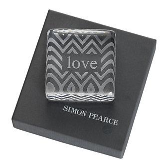 Simon Pearce Love Paperweight