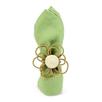 Juliska Rustic Twine Flower Napkin Ring Natural