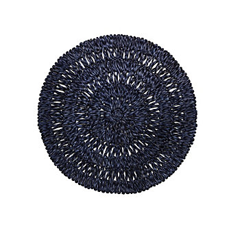 Juliska Straw Loop Round Placemat Navy