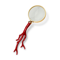 """L'objet_Coral_Magnifying_Glass,_8.5""""_"""