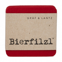Graf_&_Lantz_Beirfilzl_Red_Square_Coasters_Set_of_4