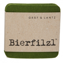 Graf_&_Lantz_Bierfilzl_Loden_Green_Square_Coasters,_Set_of_4
