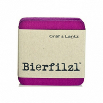 "Graf_&_Lantz_""Bierfilzl_Fuchsia_Square_Coasters,_Set_of_4"
