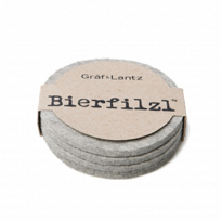 "Graf_&_Lantz_""Bierfilzl""_Round_Steel_Coasters,_Set_of_4"