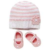 Elegant_Baby_Pink_&_White_Hat_and_Bootie_Set