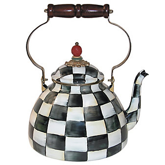 MacKenzie-Childs Courtly Check Tea Kettle, 3Q