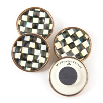 "MacKenzie_Childs_Courtly_Check_Enamel_Magnets,_2""_diameter"