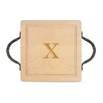 "Maple_Leaf_At_Home_""X""_Square_Board,_Hammered_Handles"