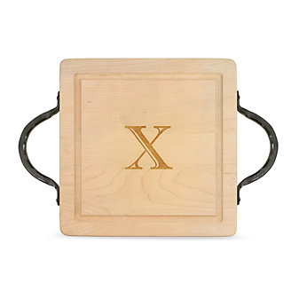 "Maple Leaf At Home ""X"" Square Board, Hammered Handles"