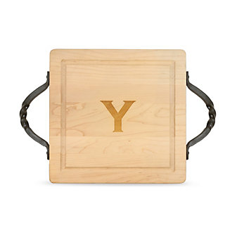 """Maple Leaf At Home """"Y"""" Square Board, Twisted Handles"""
