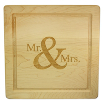 "Maple_Leaf_At_Home_Mr._&_Mrs._Square_Board_No_Handles,_12""x12""x.75"""
