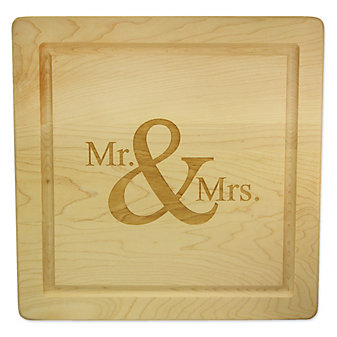 """Maple Leaf At Home Mr. & Mrs. Square Board No Handles, 12""""x12""""x.75"""""""