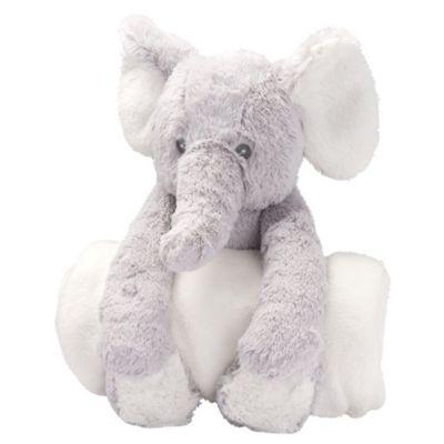 ELEGANT BABY BEDTIME HUGGIE GRAY ELEPHANT
