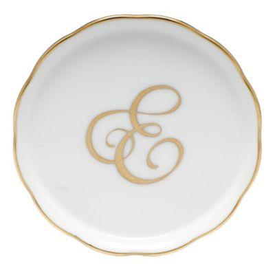 "Herend Monogrammed ""E"" Coaster"