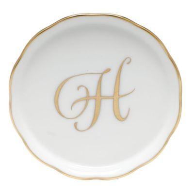"Herend Monogrammed ""H"" Coaster"
