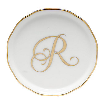 Herend Monogrammed 'R' Coaster