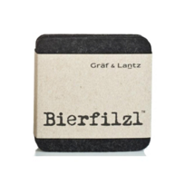 "Graf_&_Lantz_""Bierfilzl""_Square_Charcoal_Coasters,_Set_of_4"