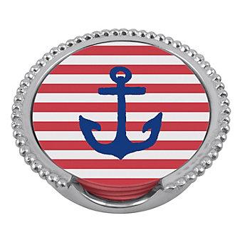 Mariposa Anchor Beaded Coaster Set