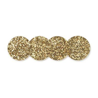 Kate Spade Happy Hour Gold Glitter Coatsers, Set of 4