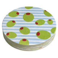 "Mariposa_Olives_4""_Coaster,_Pack_12"