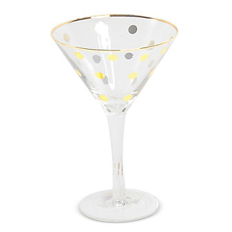 8 Oak Lane Martini, Gold Dot