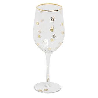 8 Oak Lane Wine Glass, Gold Star