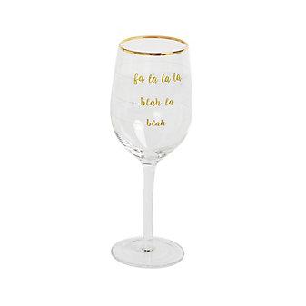 8 Oak Lane Fa La La Wine Glass