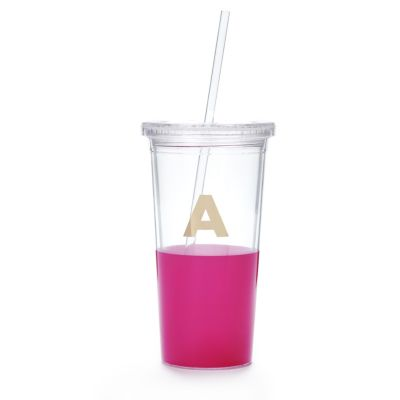 Kate Spade Dipped Initial Insulated Tumbler - A