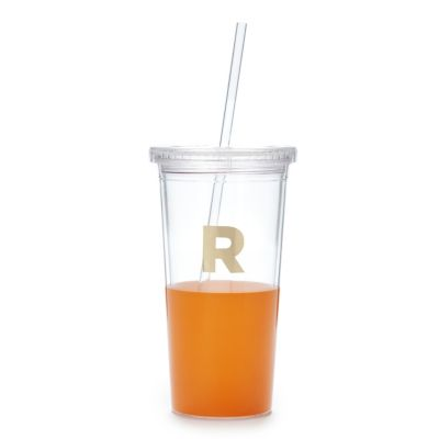 Kate Spade Dipped Initial Insulated Tumbler - R