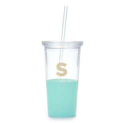 Kate Spade Dipped Initial Insulated Tumbler - S